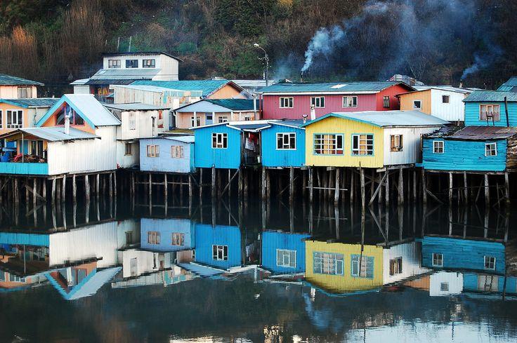 Palafitos de Castro, Chiloé - día nublado | Cristian Larrere | Flickr
