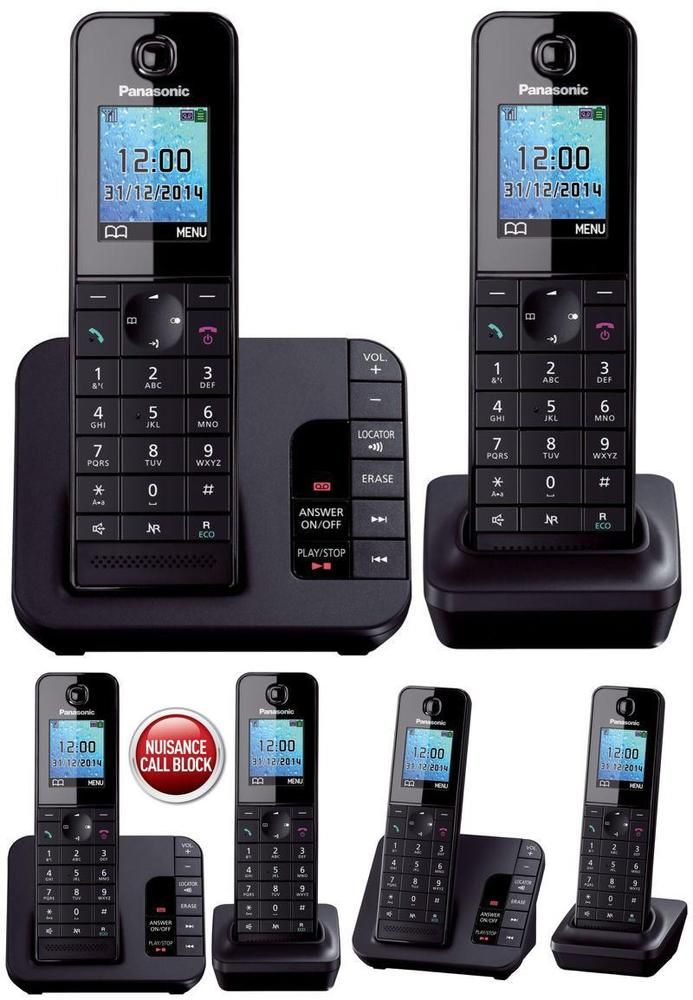 Digital Cordless Phone Pack Of 2 Block Call Answering Machine Base Charger Uk Phones For Sale Cordless Phone Phone