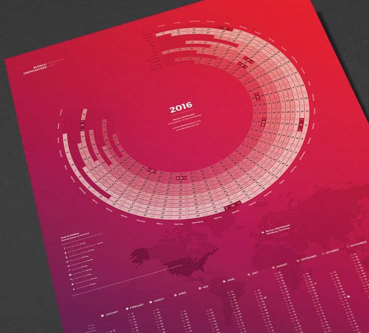 Bureau Oberhaeuser Calendar 2016 on Behance