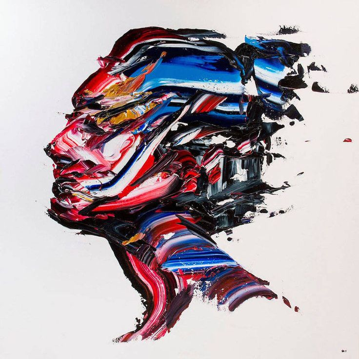 Impressive Multicolored Palette Knife Portraits – Fubiz Media