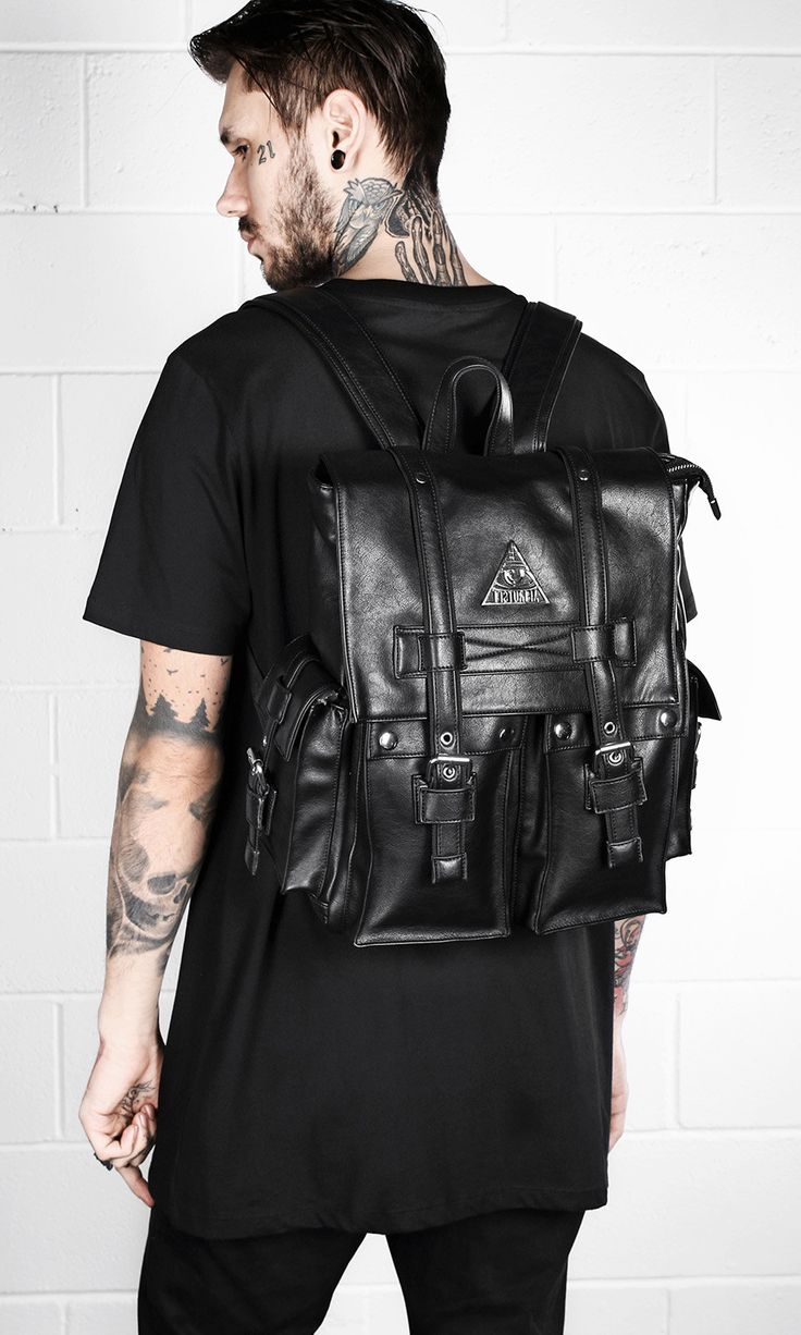 Vegan Leather All-Seeing Backpack  #disturbiaclothing #disturbia #goth #alien #goth #occult #grunge #alternative #punk #bag #backpack