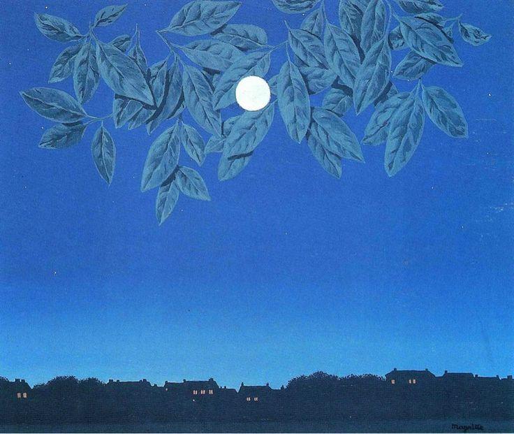 Рене Магритт. Чистый лист, 1967.