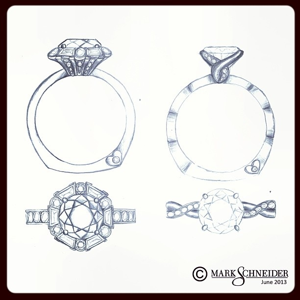New Engagement Ring Design Sketches Are Happening Which One