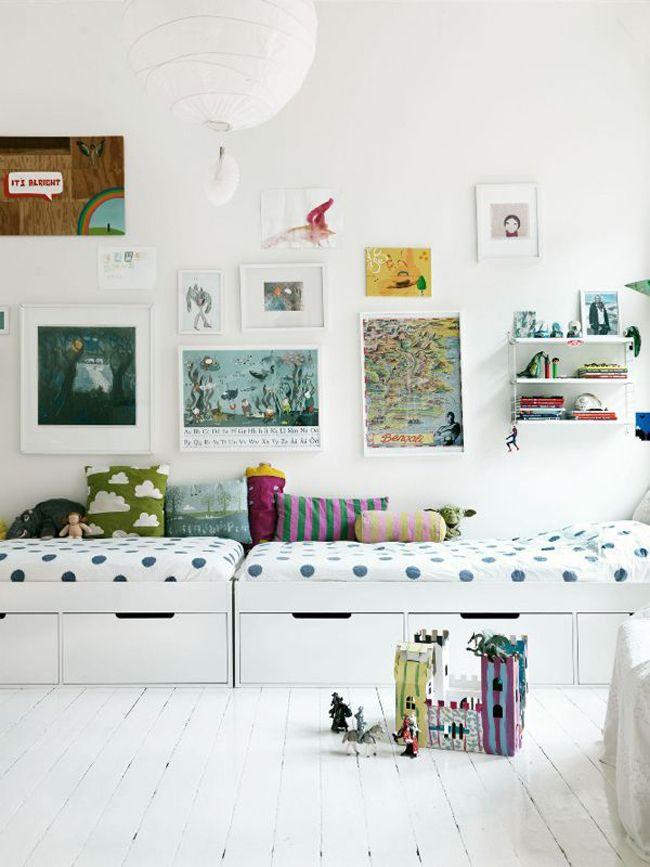 Dormitorios infantiles compartidos   Estilo Escandinavo