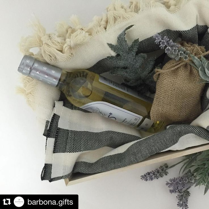 Instagram => Repost @barbona.gifts ・・・ You're guaranteed an invite back with this hostess gift!!  Cotton throw, bag of truffles and a mini wine - yes please!  #hostessgift #hostessgifts #gifts #giftbox #customgift #giftideas #throwcover #chocolate #burlap #cottonthrow #peshtemal #turkishtowel #lavender #greenery #wine #whitewine #giftwrap #giftsdelivered #mothersday #mothersdaygift #thankyougift #clientgifts #handmade #handmadegift #barbona #barbonagifts