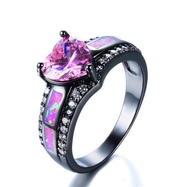 T/&T ring Elegant Blue Fire Opal Rings Amethyst Zircon Ring Fashion Jewelry For Women Wedding Rings