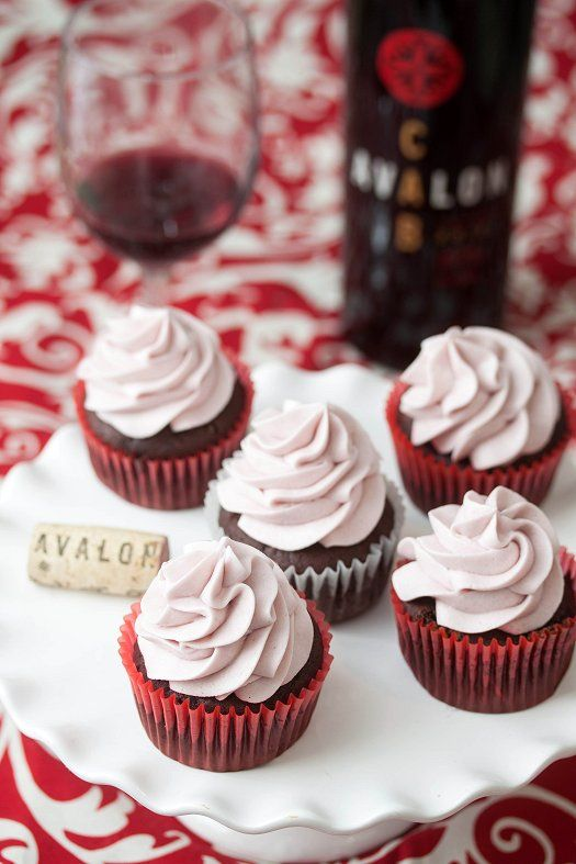 #KatieSheaDesign ♡❤ ❥▶  Chocolate Red Wine Cupcakes with Red Wine Buttercream @Avalon Distaso Distaso Winery
