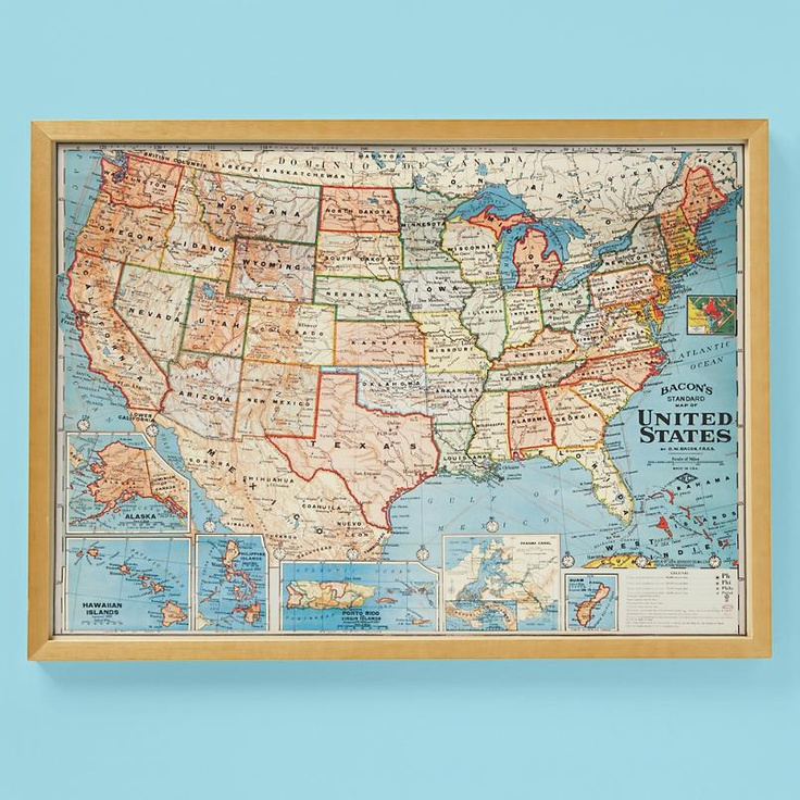 Best Maps Images On Pinterest Us Map Maps And Travel Maps - Us map wall decor