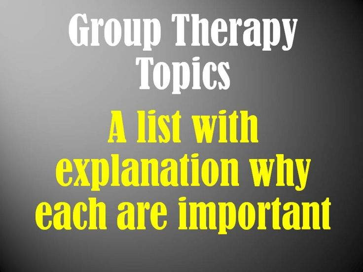 Use this list of mental health group topics to help you plan groups or create a complete program. Specific subtopics are included for each category of group topic.