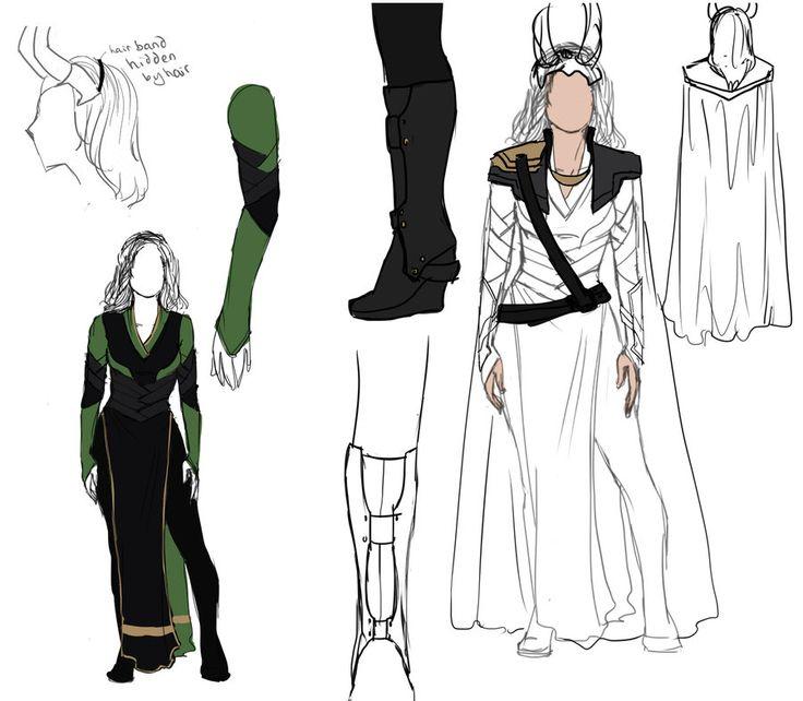 Lady Loki Designs by ~MelodicMadness on deviantART