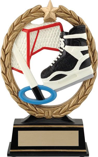Ringette Trophy - Negative Space Ringette