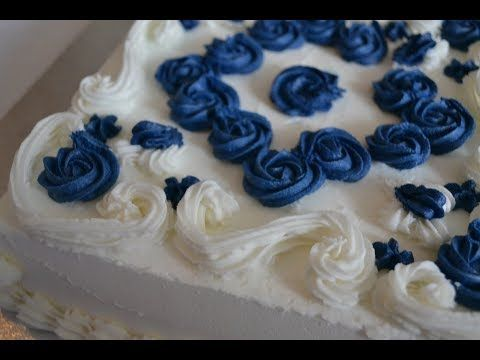 Spice up a cake: white and blue elegant cake with only star grommets – DIY …  – Tolle Torten