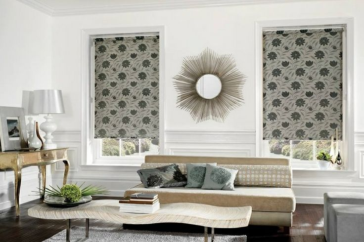 Patterned shades instead of wallpaper or pictures. You will love having these snazzy shades in your living space.