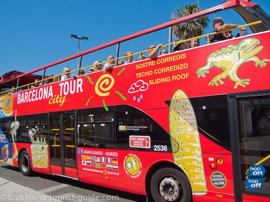 A great way to discover the city: Hop on, hop off with the Barcelona city tour bus. It stops at most main attractions and sitting on top of the bus you get a great feeling of the city.