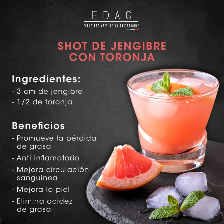 ¿Qué tal agregarle a tu día un shot de jengibre con toronja? Intenta esta sencilla receta.