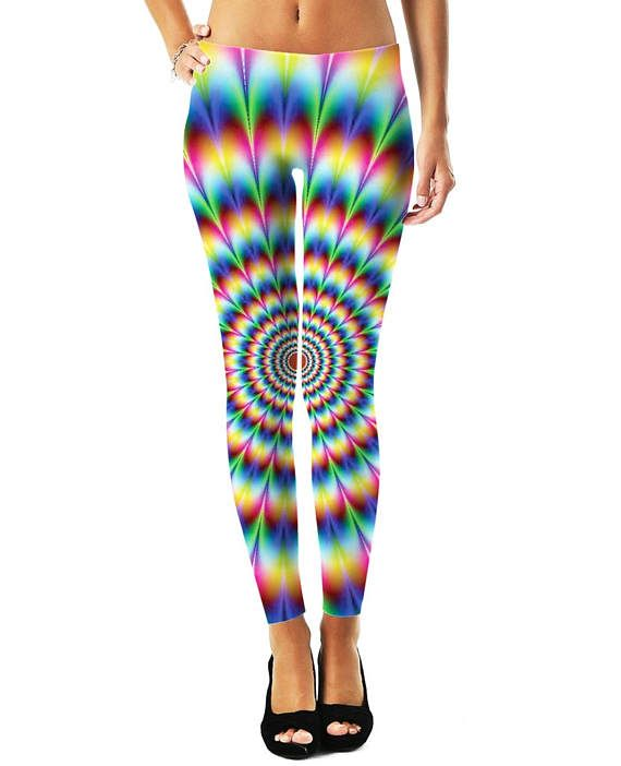Tie Dye Leggings and You: Help everyone around you enjoy their happiness for the day with your new Tie Dye Leggings for Yoga or everyday fashion. These Tie Dye Tights make a bold fashion statement!  Tie Dye Leggings Features:  -Hand Cut & Sewn in USA -100% Specially Spun Polyester -HD All-Over Graphic Print -Pre-Shrunk 2 Way Stretch Fabric  Incredibly Soft & Amazingly Chic: Each set of leggings is a unique, 1 of-a-kind garment, printed, hand cut and hand sewn exclusively for you. Tie ...