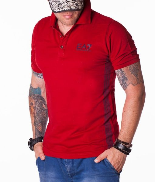 Armani Tricouri Polo - Emporio tricou polo rosu