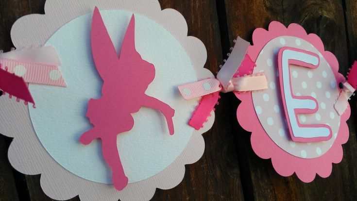 Custom Fairy theme Name Banner in shades of pink by SweetBugABoo, $30.00