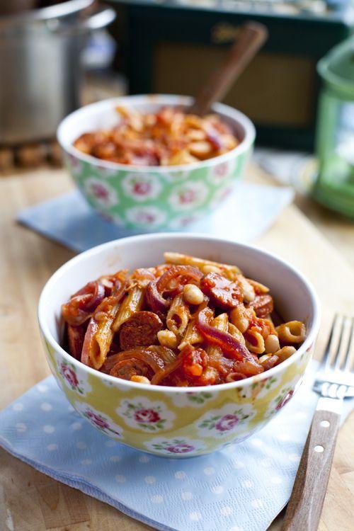 Whoohaa Chorizo Bean Pasta   Donal Skehan