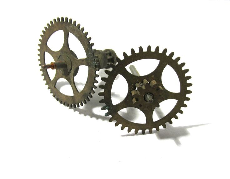 Clock Gears Vintage STEAMPUNK Gears Two (2) Large Clock Gears Mechanical Movements Robots Art Assemblage Supplies Clock Repair Supply (D253) by punksrus on Etsy