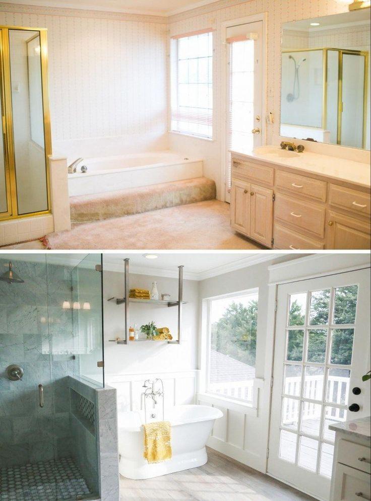 Bauernhaus, Umbau, Badezimmer, Einrichtung, Wohnen, Haus Badezimmer,  Traumbäder, Master Badezimmer, Badezimmer Ideen