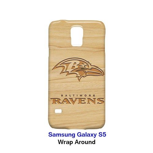Baltimore Ravens Style Wood 1 Case for Samsung Galaxy S5