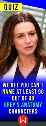 Do you think you can name almost every Grey's doctors just by one photo? Go ahead and take this quiz to find out! Grey's Anatomy quiz, Shonda Rhimes, Shondaland.