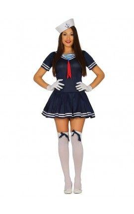 Disfraz de marinera azul sexy para mujer