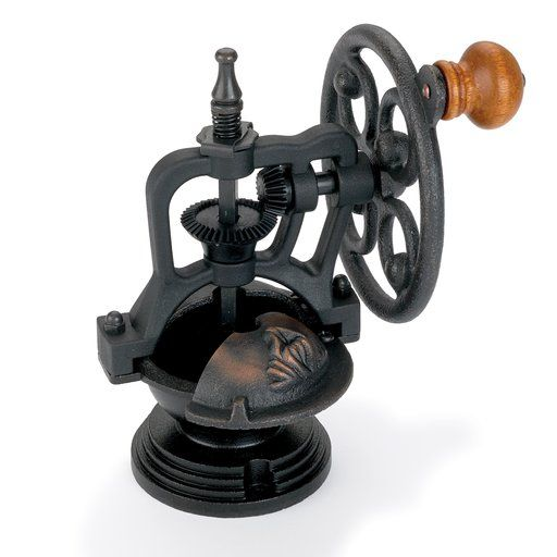 View a Larger Image of Antique Style Hand Crank Coffee Grinder Kit Mechanism Cast Bronzed