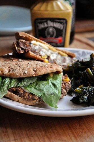 Black bean burgers-  I LOVE black bean burgers.  Just need to get my main squeeze to like them, too.