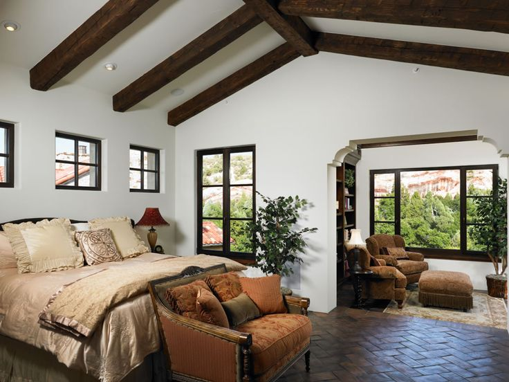 This Spacious And Bright Master Bedroom Offers Amazing Views Of The Red  Stone Cliffs Just Outside The Picture Windows, Rustic Beams That Accentuate  The ...