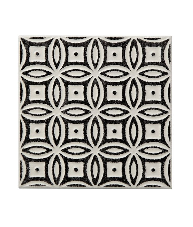Batik Pattern Black Tile | Topps Tiles