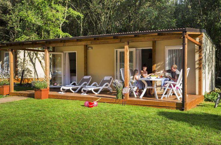Family breakfast @ Mobile Homes in Campsite Polari, Rovinj