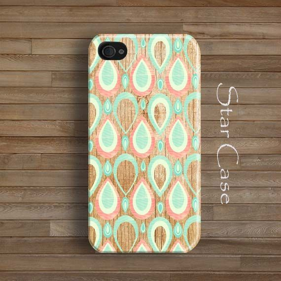 Drops iPhone 5 Case, Vintage iPhone 5s Case, Wood Print iPhone 6 Case, iPhone 4s Case iPhone 4 Cover, Cute iPhone 5 Cover by Star Case