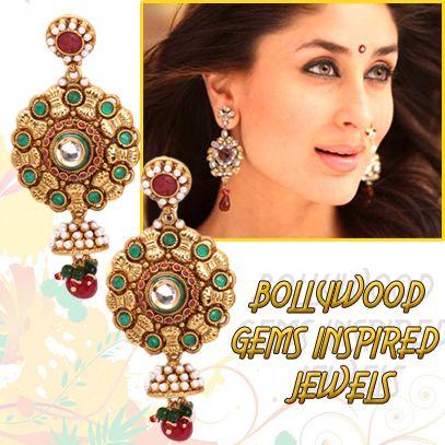 Buy Bollywood Gems Inspired Jewels From http://khoobsurati.com/jewellery