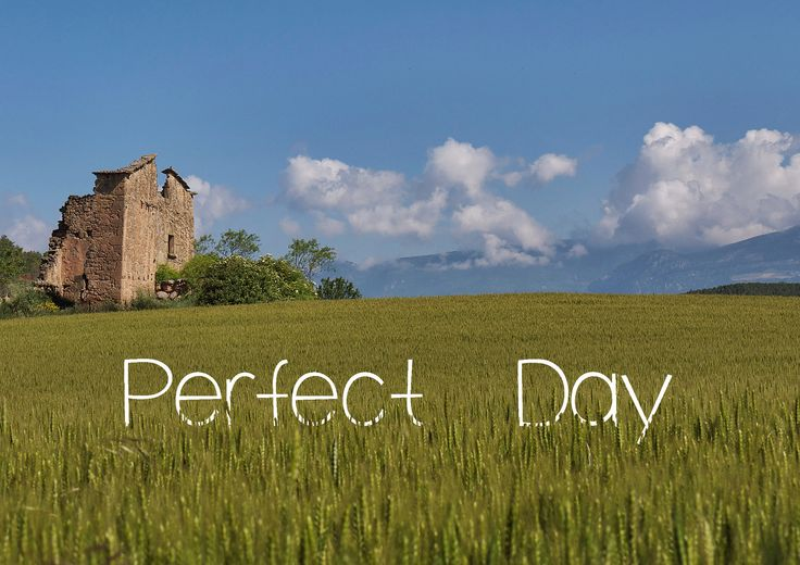 Perfect day, photo and design by David Juárez Ollé