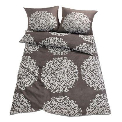 Graue Bettwäsche mit modischem Muster 14,99u20ac ♥ Hier kaufen: http:/