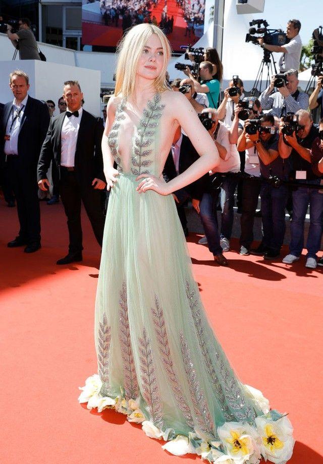 Elle Fanning brilha a bordo de vestido Gucci em Cannes