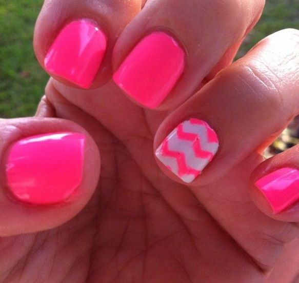 Cute summer nails... Simple