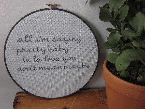 13 best Lyrics images on Pinterest | Cool stuff, Crossstitch and ...