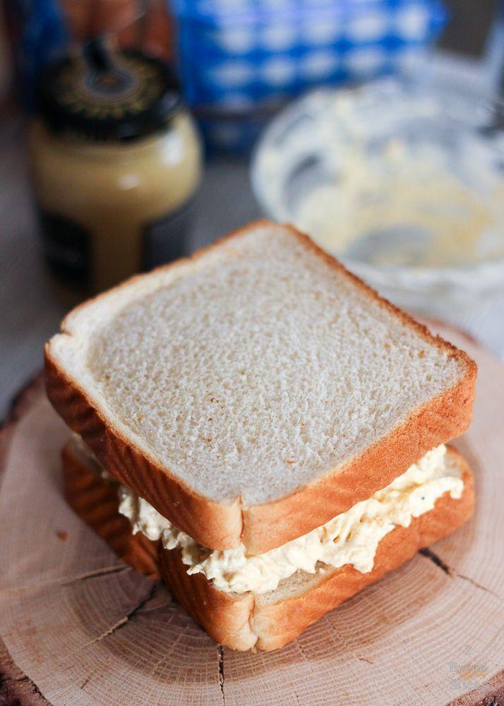 Receta de sandwich de huevo y queso en crema