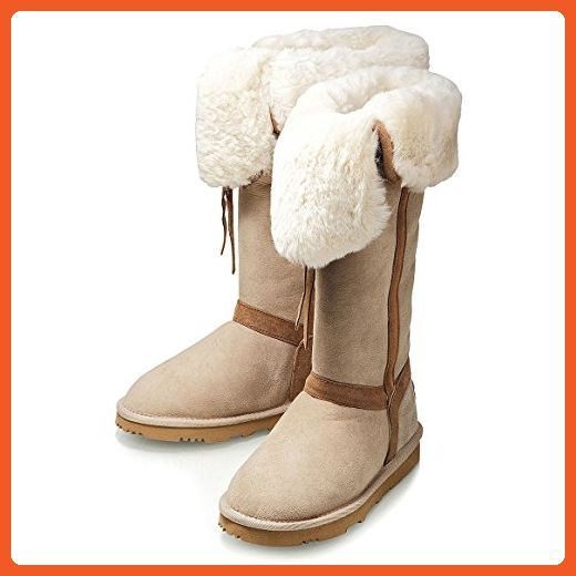 KOS Women's Crusado Tall Beach Sand Australian Sheepskin Boot 9 M Us - Boots for women (*Amazon Partner-Link)