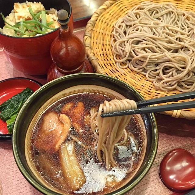 #osaka #japon - 46件のもぐもぐ - 鴨せいろそば定食 by maixx ใหม่