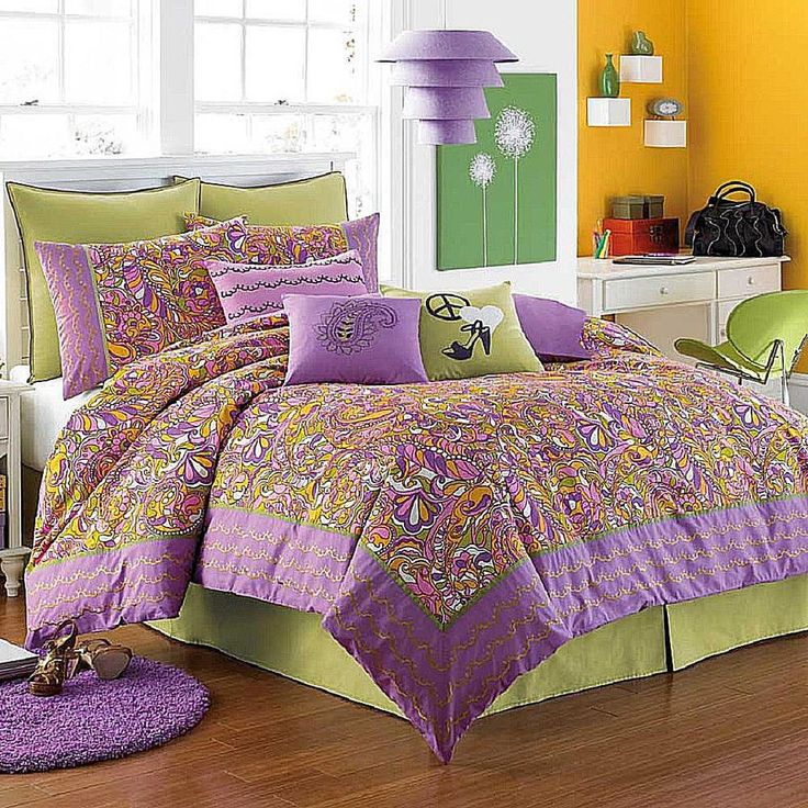 Orange Green Purple Room: 1000+ Ideas About Orange Bedrooms On Pinterest