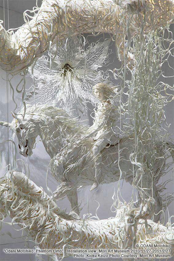 Motohiko Odani - Paper sculptures