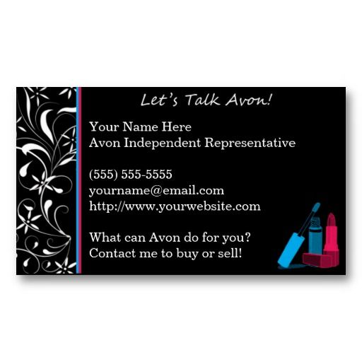 Best Avon Business Cards Templates Images On Pinterest - Avon business card template