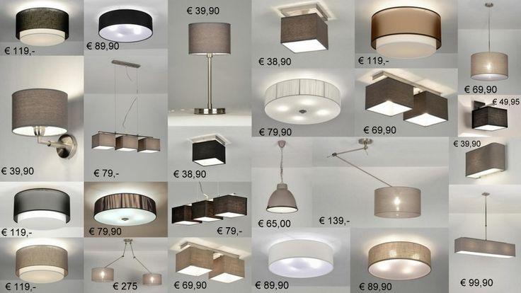 wandlampen plafondlampen hanglampen met stoffen kap voor slaapkamer ...
