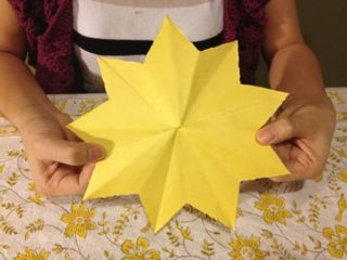 easy origami style 9 point star. can write an act of kindness on each point.