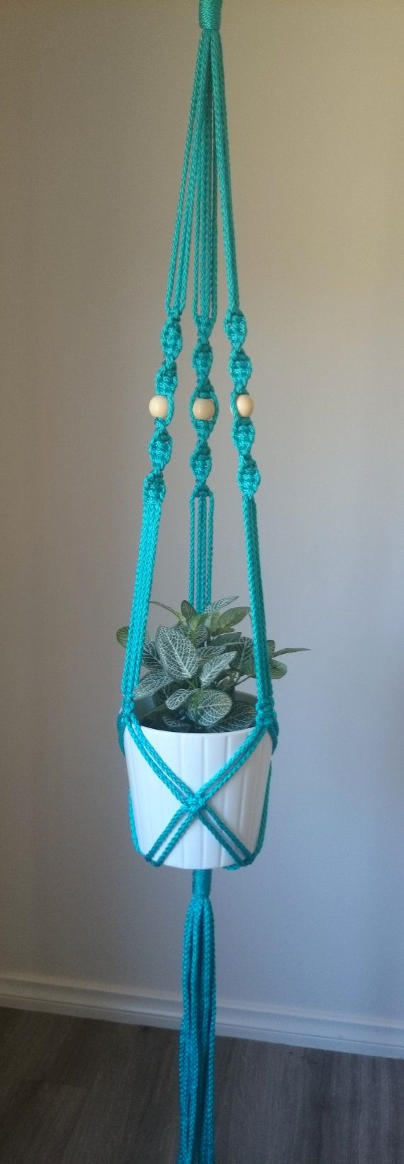 Macrame Pot/Plant Hanger Elwood by TheColouredKnot on Etsy, $40.00