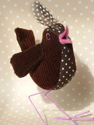 Patchwork style bird sewing tutorial and pattern PDF